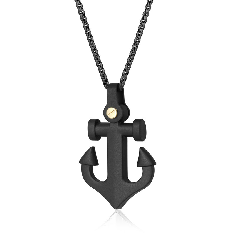 Black ion plated matte stainless-steel anchor