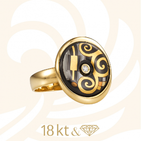 Hommage a Gustav Klimt Luna Picolissima Ring