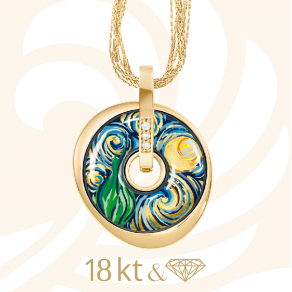 Hommage a Vincent van Gogh Luna Picolissima Pendant