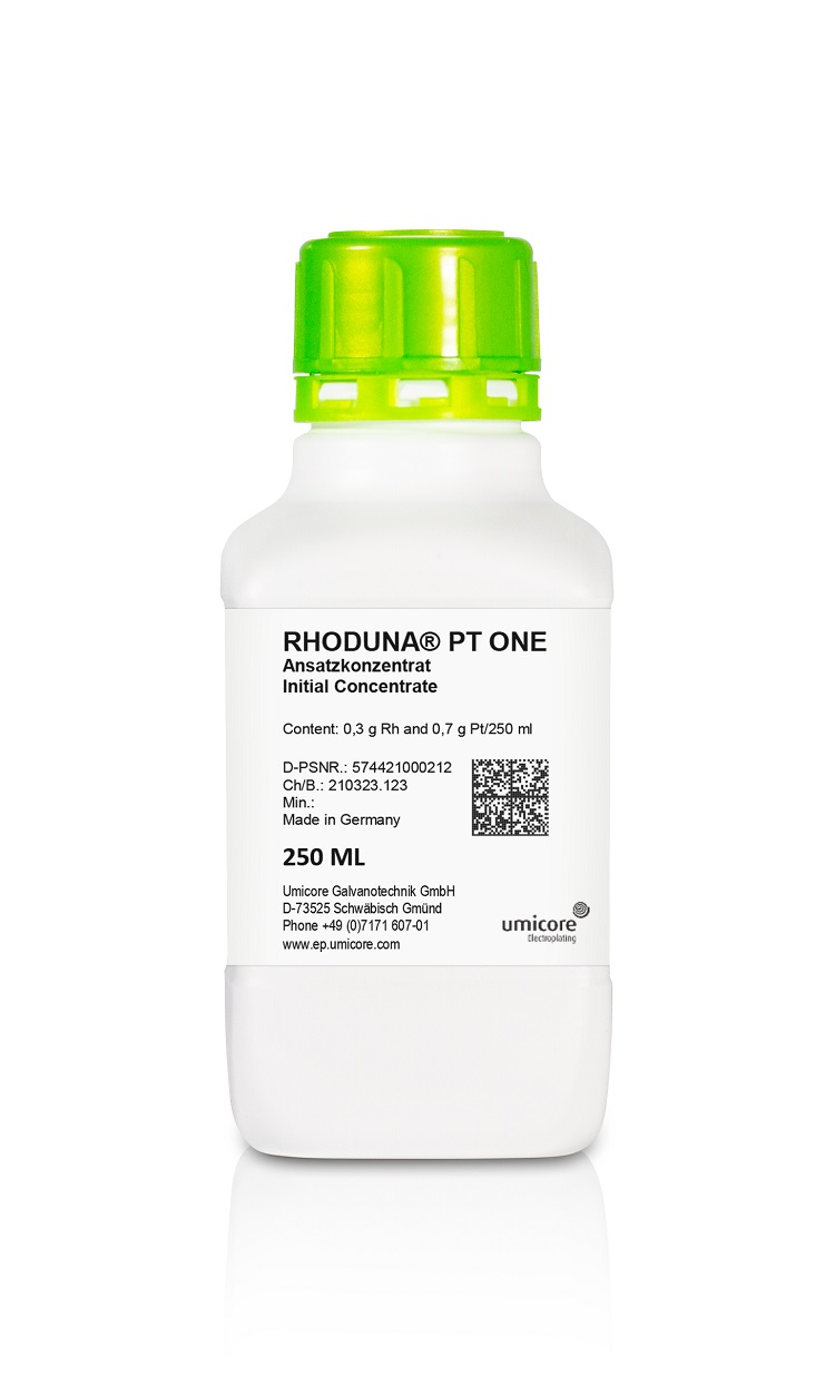 Rhodium alternative Umicore RHODUNA® PT ONE
