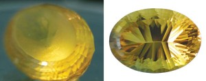 A recut of the crown on this concave-cut citrine by The Gem Doctor helped improve its appearance.