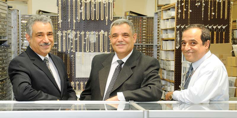 (Left to right)  Ohannes Camgozlu  with his brothers, Garabet and Paravon 'Paul,' co-owners of Mary Jewellery & Lapidary Co.