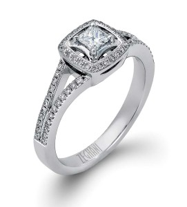 When purchasing princess-cut diamonds, look for stones with feathers toward the centre, rather than the outside edge to minimize breakage.