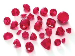 Yellow parcel paper intensifies the red colour of rubies and hides undesirable pinkish and purple hues. Always examine this particular gemstone on a white background.