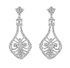 14-karat gold earrings by Beverly Hills Jewellers, with Canadian diamonds (1.16 ctw).