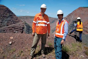 The author with Adolf Peretti of Gem Research Swisslab (GRS) at the Argyle mine earlier this year.