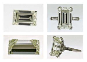 A diamond's setting can affect its colour grade, particularly if it's yellow gold. As such, ASA's tolerance for grading diamonds mounted in white metal is ± two grades, while grading a loose stone is ± one grade.