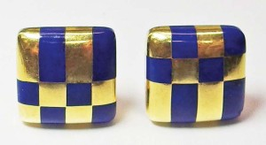These gold and lapis lazuli clips by Angela Cummings for Tiffany & Co., circa 1980, will go for $4000 when signed. An unsigned vintage pair, however, may sell for half that amount.