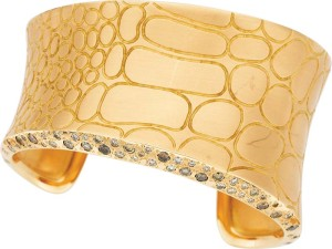 Brands like Pomellato, whose gold and diamond cuff is seen here, are recognizable, though can be more challenging when conducting market research and opinion of value.