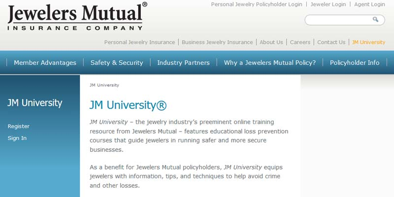 Jewelers mutual revamps jm university jewellery for Jewelers mutual personal jewelry insurance