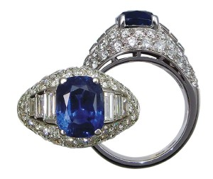 Well-made and with a fine centre sapphire, this ring is a good example of a piece that will do much better in the estate department of a fine jewellery store.