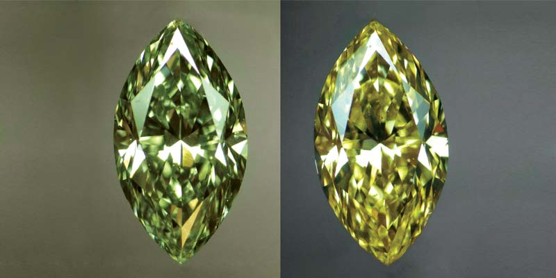 At 31.32 carats, this oval stone is the world's largest chameleon diamond.