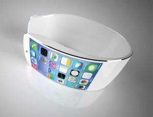 A concept drawing of Apple's iWatch, which is expected to launch this year.