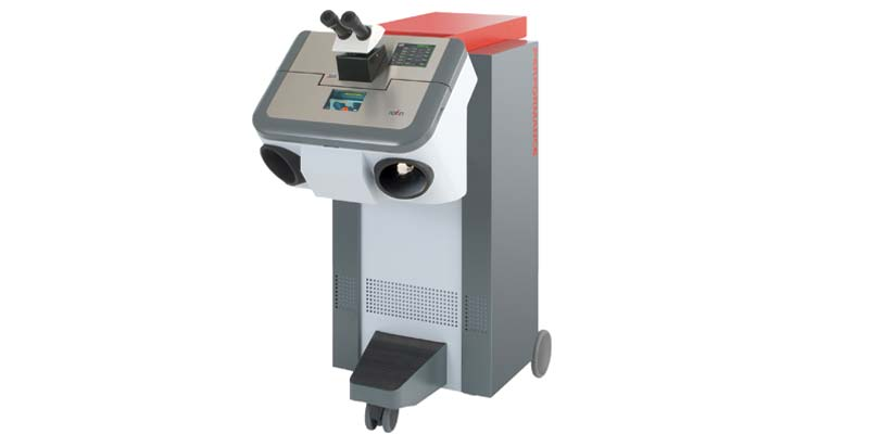Starweld Performance 7002 Laser Welder with large colour touch screen and dynamic foot switch.