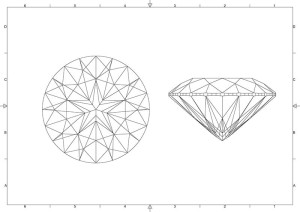 A five-pointed star is visible in the face-up position of this proprietary cut from Embee Diamonds.