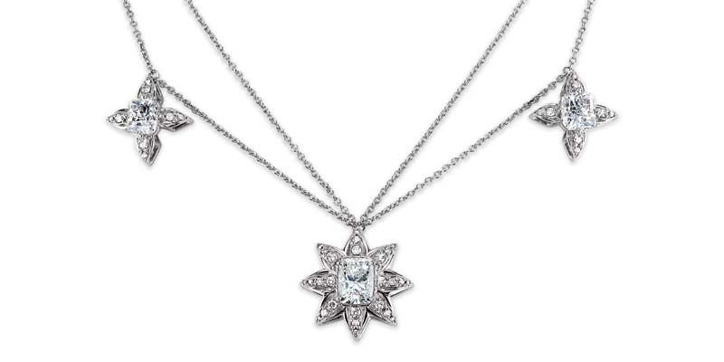 'Constellation' diamond (7.85 ctw) and platinum necklace by Embee Diamonds.