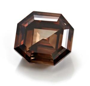 A 5.01-carat fancy dark orangey-brown diamond.