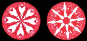 Optical symmetry as shown using a 'two-colour' reflector.