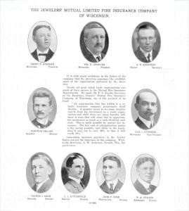 Jewelers Mutual's founding board of directors.