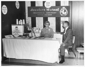 Jewelers Mutual builds important relationships while attending its first jewellery industry trade show in 1945.