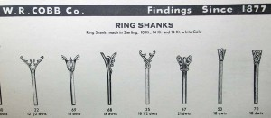 Die-struck ring choices  from a W.R. Cobb catalogue,  circa 1900.