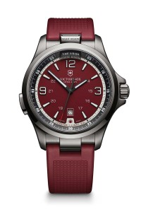 I.N.O.X. (Impact Neutralizing Object for the X-tremes) by Victorinox Swiss Army, with 43-mm stainless steel case, quartz movement, and scratch-resistant, triple-coated anti-reflective sapphire crystal.