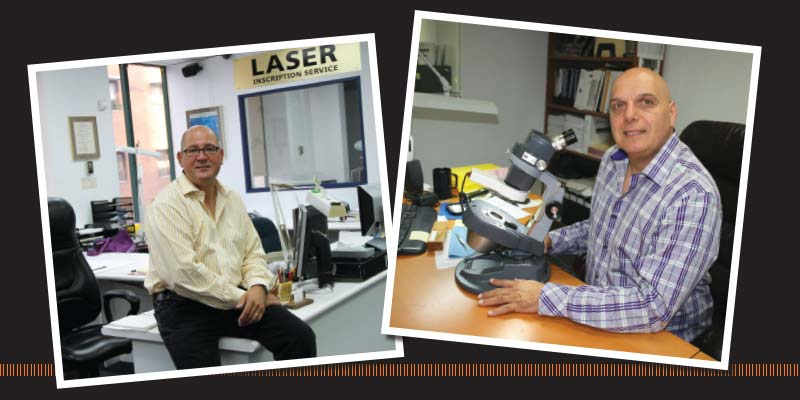 Andrew Tatarsky (left) and Sam Barbuzzi (right) of GS Laboratories.