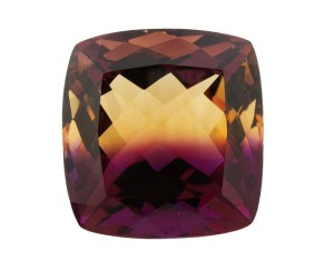 Rumours the Bolivian ametrine mines have 'run out' are driving new 'investment opportunities.' Many feature synthetic stones like this one.