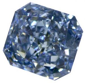 Blue diamond prices have increased by five per cent over last year.