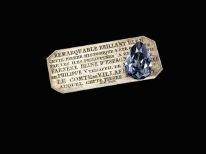 The historic Farnese Blue diamond outperformed its estimated auction price at Sotheby's Magnificent Jewels and Noble Jewels sale, bringing in $8.5 million. Photo courtesy Sotheby's