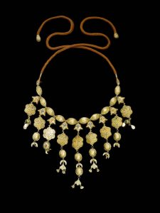 An upcoming Sotheby's auction will focus entirely on gold. Pictured is a gem-set gold necklace from 18th-century Morocco. Photo courtesy Sotheby's