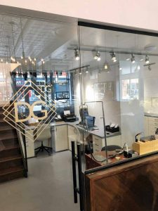 A glass wall allowing customers to view the bench and staff area is one of the new additions made to Port Perry, Ont.-based Dana's Goldsmithing after a recent renovation spearheaded by owner Dana Smith. Photos courtesy Dana's Goldsmithing