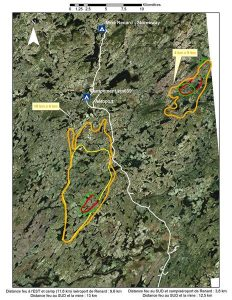 A recent forest fire in Québec caused the Renard diamond mine to temporarily suspend operations. Pictured above is the affected area. Image courtesy MERN