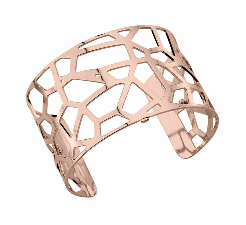 18-karat rose gold-plated, nickel-free brass cuff from Altesse's 'Les Georgettes' line.