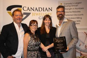 Vancouver designer Keith Jack (left) continues to hold the title of Supplier of the Year after this year's Canadian Jewellery Group (CJG) show. Photo © Carolyne Wagland