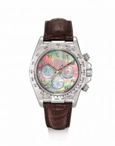The only known platinum Rolex Cosmograph Daytona Zenith Caliber is expected to sell for up to US$767,000 at Sotheby's Hong Kong's Important Watches sale next month. Photo courtesy Sotheby's