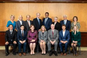 The Gemological Institute of America's (GIA's) Board of Governors met in October at GIA World Headquarters in Carlsbad, Calif. Ravich, the newest board member, is pictured standing at the far right. Photo © Kevin Schumacher. Photo courtesy GIA