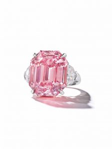 The 18.96-carat 'Pink Legacy' is the largest vivid pink diamond Christie's has ever sold. Photo © Christie's
