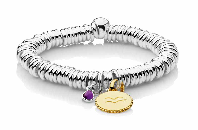 Made-to-order 'Sweetie' bracelet by Links of London, available in rhodium or 18-karat gold or rose gold vermeil. Diamond/gemstone rondelles, engraving, and keepsake charms can be added. MSRP $535 as shown ($295 starting price)
