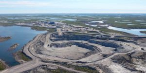 Kimberlitic material has been confirmed after drill testing in three areas at the Northwest Territories' Gahcho Kué mine. Photo courtesy De Beers Canada