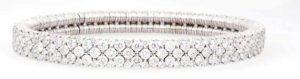 'Cashmere' diamond bracelet (8.88 ctw) in 18-karat white gold by Roberto Demeglio.