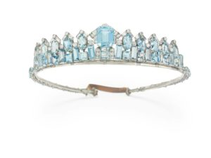 This art deco aquamarine and diamond tiara-necklace by Cartier achieved more than eight times its low estimate at Christie's 'Magnificent Jewels' sale on December 6. Photo courtesy Christie's