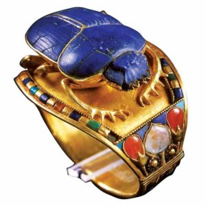 Children have been wearing jewellery since the days of King Tutankhamun, who sported this gold band in ancient Egypt.