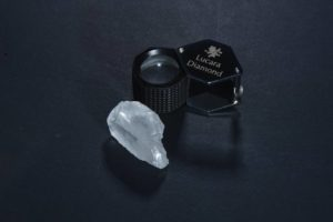 This 127-carat white diamond was found at Botswana's Karowe mine, which is run by Vancouver-based Lucara Diamond. Photo courtesy Lucara Diamond