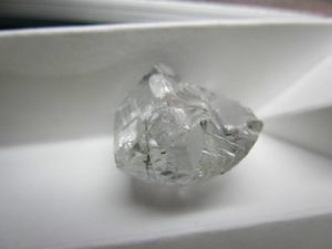 This 46-carat white diamond comes from Firestone Diamonds' Liqhobong Mine in Lesotho, Southern Africa. Photo courtesy Firestone Diamonds