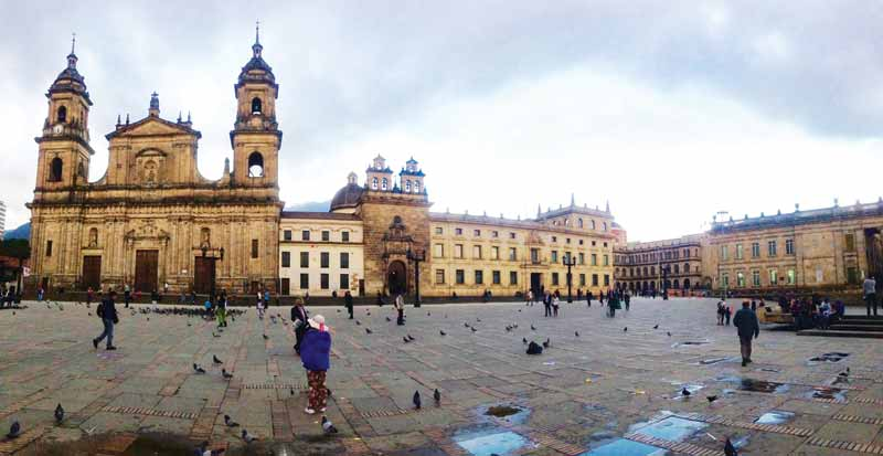 Plaza Bolivar is at the heart of historical Bogotá and dates to pre-Colombian times, an era when the region's emeralds were also highly appreciated.