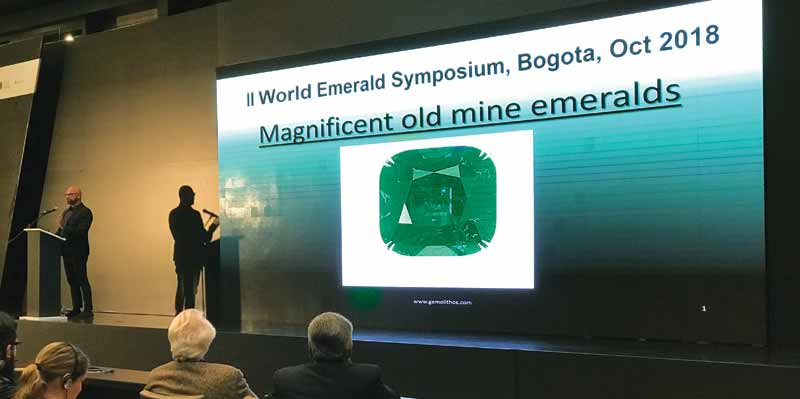 On the jewellery side, Ioannis Alexandris, CEO of Gemolithos, gave an overview of historic old-mine emeralds.
