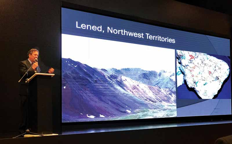 Dr. Lee Groat of the University of British Columbia (UBC) gave an overview of emerald mining in Canada, noting the rewards and difficulties of mining in the country, at the Second World Emerald Symposium (2WES) in Colombia.
