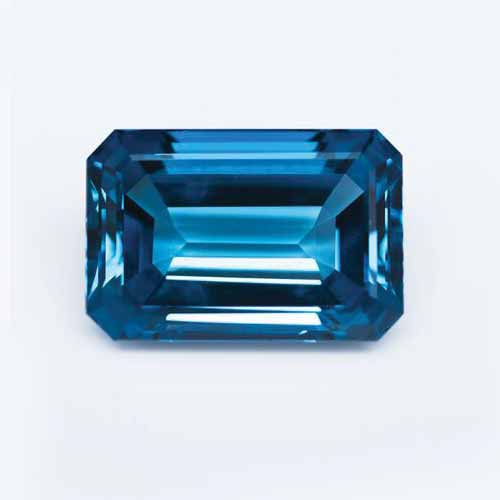 This 73-carat London blue topaz could be a possible alternative to sapphire.