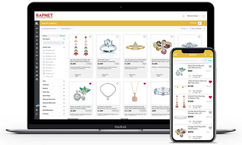 RapNet, an electronic diamond-trading group, has added jewellery to its global trading network.
